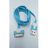 Cable Plano Para Cargador iPhone Azul Cie Bc-2058bls Fussion