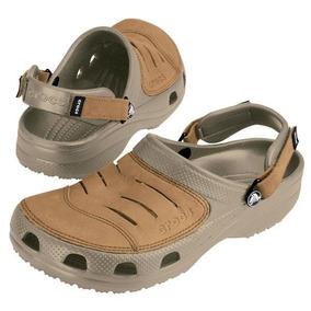 Sandalias Crocs Yukon Cuero Ocre Hombre Envio Gratis
