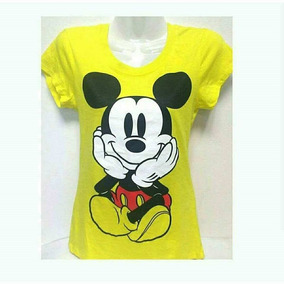 Polera Disney Original Mujer Talla M Cod 0583 Amarilla