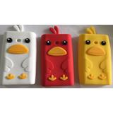3 Case Tpu Pinguin + 3 Película Plástico Lg L3 E400 E405