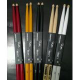 Baquetas Drumsticks 5a Para Bateria Profesional Punta Madera