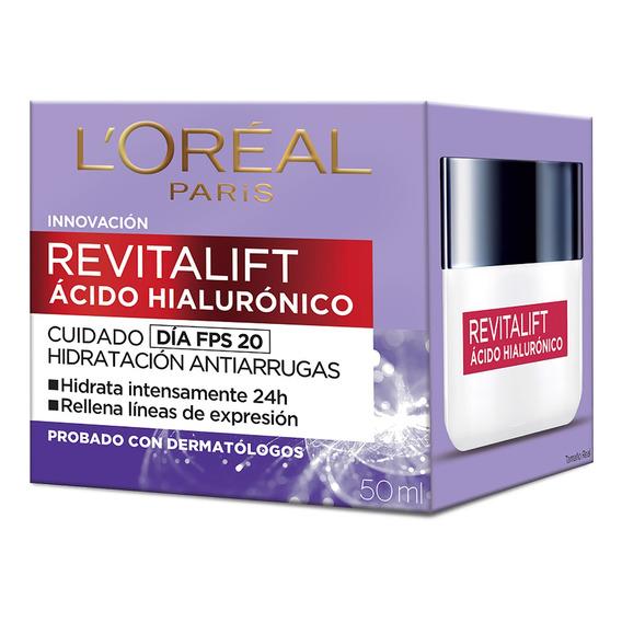 Crema Día Loréal Paris Revitalift ácido Hialurónico 50ml