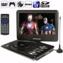 Dvd Portatil 9 Pol Tela Lcd Multimedia Tv Cd Sd Usb Fm Jogos