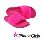 Chinelo Slide Planet Girls Rosa Coleção Barbie