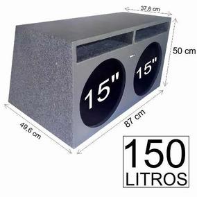 Caixa P/ Extreme 15sw5 Selenium Duto Régua 150 Litros Mdf-18