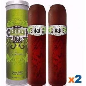 2 Perfume Cuba Green Masculino Eau De Toilette 100 Ml