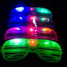 10 Lentes Led Rejilla Luminosos Para Fiesta Y Eventos