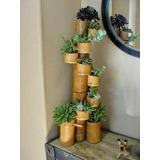 Plantas En Maceta De Caña De Bambu!!