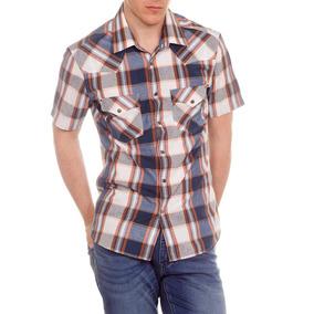 Camisas Hombre Wrangler Manga Corta New Western