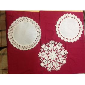 Carpetas De Hilo Con Puntilla Tejida Al Crochet