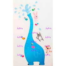 Regla Medidor Estatura Infantil Elefante Vinil Decora Pared