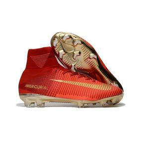 54969e09e1eac Mercurial Vermelha E Dourada - Chuteiras Nike para Adultos no ...