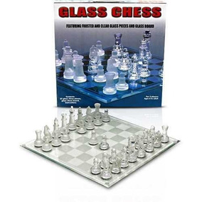 Jogo De Xadrez Peças Tabuleiro Em Vidro Detalhado Xa2395