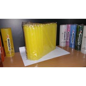 Velas Largas Comunes X100 Amarillas 19cm