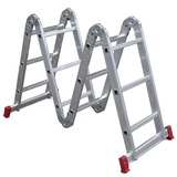 Escada Articulada Aluminio 4x3 12d 3.39 Mts Esc0292 Botafogo