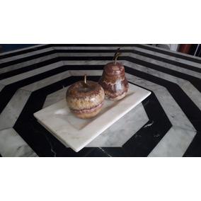 Promoción!!! Centro De Mesa De Manzana Y Pera Ónix Chocolate
