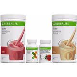 Kit Herbalife Emagrecimento 2 Shakes Cha 50g Fiberbond Orig