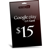 Google Play Gift Card 15 Dolares - Android Market Tablets