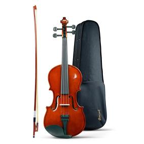 Violino Iniciante Concert Clássico 4/4 Com Estojo E Breu