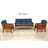 Mesa De Jantar C/ 6 Cadeiras + Conjunto De Sofá 3-1-1
