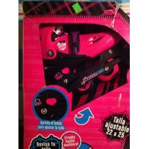 Patines Monster High Línea Y Cuatro Ruedas Envío Gratis
