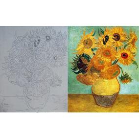 Lienzo Con Boceto Para Pintar, Oleo, Los Girasoles Van Gogh