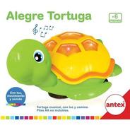 Tortuga Musical Con Luz Y Movimiento Original Antex