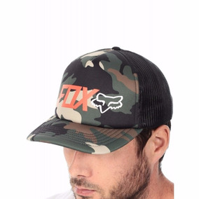 Gorra Fox Racing Camuflada Talla Ajustable Broche Original