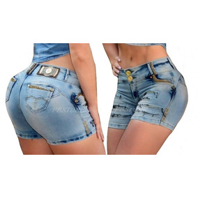 Short Rhero Jeans Estilo Pitbull Hero Modela Bumbum