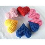 Mini Coração Crochê 3d Amigurumi Lembrança Dia Namorados