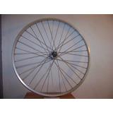 Rueda Trasera De Bicicleta Rod.28 X 1 5/8 En Aluminio. Nueva