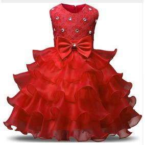 Vestido Festa Infantil Renda Babado Casamento Criança Dama