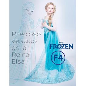 Precioso Vestido De Frozen Elsa Y Anna En Stock