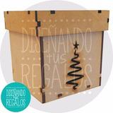 Caja Pan Dulce Regalo Navidad Serpentina Extra Gde Nvd30-178
