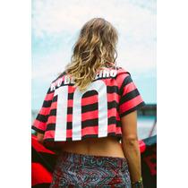 Camiseta Flamengo Feminina Cropped Farm Adidas Originals