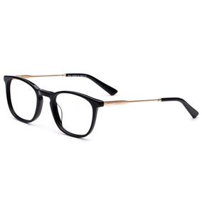 Armação Oculos Grau Acetato metal Preto Importado Ref21 Armacoes ... e9934c94f5