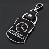 Llavero Para Autos Mercedes Benz De Metal Y Cuero