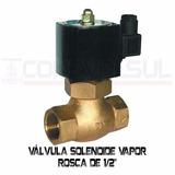 Válvula Solenoide Nf Para Vapor 180º - Rosca 1/2 Pol. 220v.