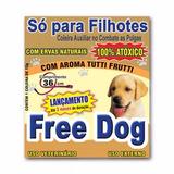 Coleira Free Dog Antipulgas P/ Cães Filhotes 36cm