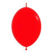 Bolsa Con 50 Globos Bipolo  Link O Loon Rojo 6 Pulgadas