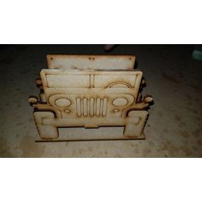 Paquete De 10 Servilleteros Decorativos Jeep En Mdf X Dhl
