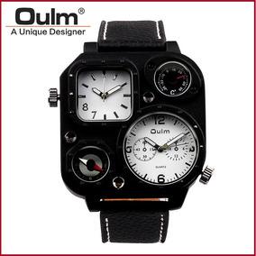 Oulm Reloj Luxury Militar Termometro Brujula Envio Gratis