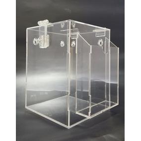 Urna De Acrílico- Caixa De Sugestões - Com Bolsa P/cupons