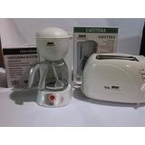 Combo Cafetera Electrica 6 Tazas Y Tostadora Onida Nuevas