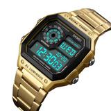 Reloj Militar Skmei Gold Metal Chro Digital Impermeable Wow!