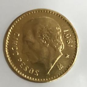 Moeda Estados Unidos Mexicanos, Cinco Pesos, 1907 - 4.1 G
