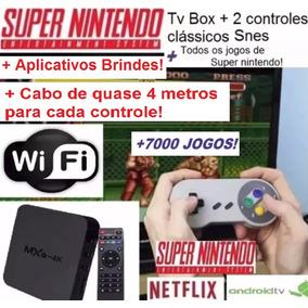 Tv Box + Emulador Super Nintendo Classic Snes + 2 Ext;