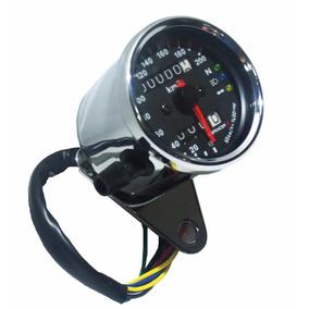 Painel Cromado Universal Custom Velocimetro Moto Cafe Racer