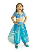 Fantasia Infantil Princesa Jasmine Aladdin Disney + Tiara