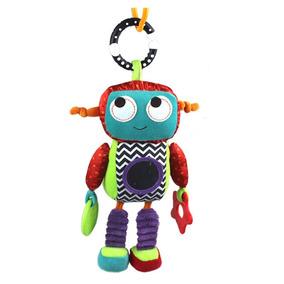 Mini Móbile Robô Pelúcia Sensorial Chocalho Mordedor Espelho
